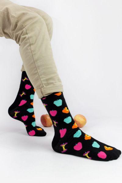 Ανδρικές - Εφηβικές Fashion Κάλτσες Crazy Socks APPLE