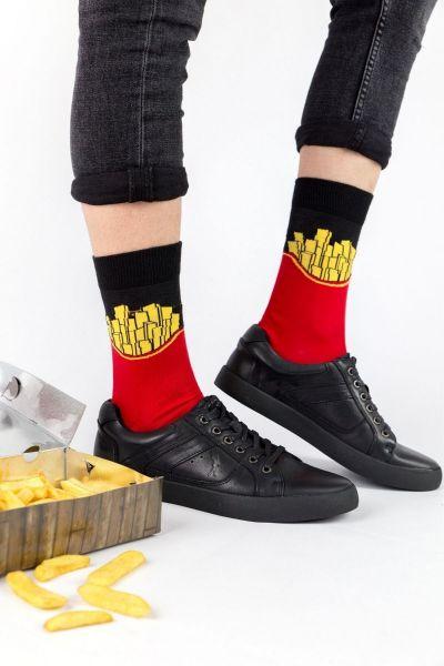 Ανδρικές - Εφηβικές Fashion Κάλτσες Crazy Socks B. FRIES