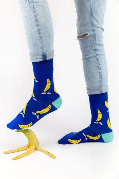Ανδρικές - Εφηβικές Fashion Κάλτσες Crazy Socks BANANAS