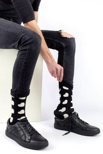 Ανδρικές - Εφηβικές Fashion Κάλτσες Crazy Socks BLACK HEART