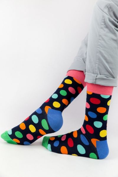 Ανδρικές - Εφηβικές Fashion Κάλτσες Crazy Socks COLORFUL DOTS