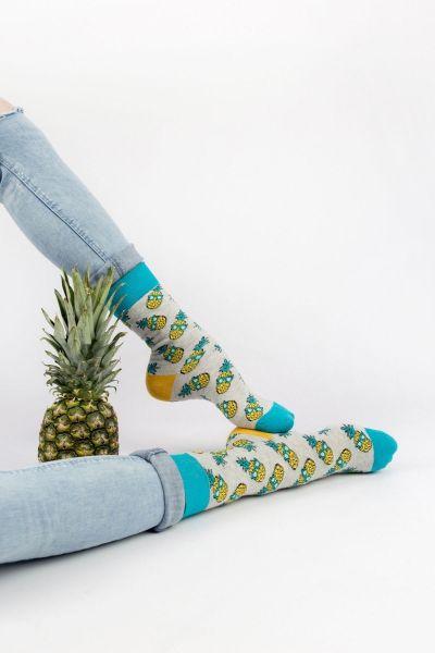 Ανδρικές - Εφηβικές Fashion Κάλτσες Crazy Socks CRAZY PINEAPPLE