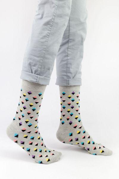 Ανδρικές - Εφηβικές Fashion Κάλτσες Crazy Socks HAPPINESS