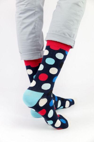 Ανδρικές - Εφηβικές Fashion Κάλτσες Crazy Socks HAPPY DOTS