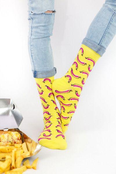 Ανδρικές - Εφηβικές Fashion Κάλτσες Crazy Socks HOT DOG