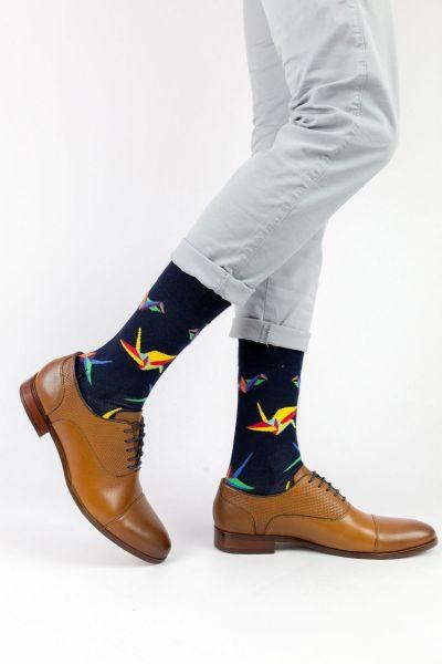 Ανδρικές - Εφηβικές Fashion Κάλτσες Crazy Socks ORIGAMI