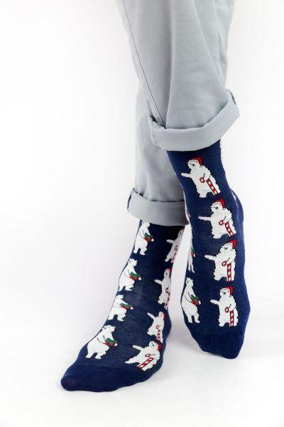 Ανδρικές - Εφηβικές Fashion Κάλτσες Crazy Socks POLAR BEAR