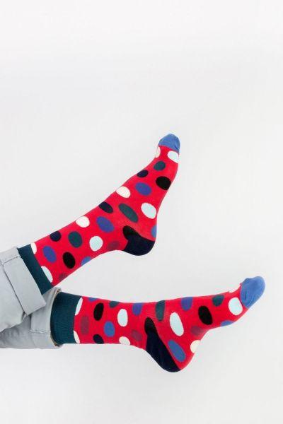 Ανδρικές - Εφηβικές Fashion Κάλτσες Crazy Socks RED DOTS