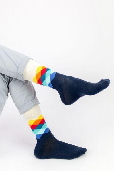 Ανδρικές - Εφηβικές Fashion Κάλτσες Crazy Socks RHOMBUS II