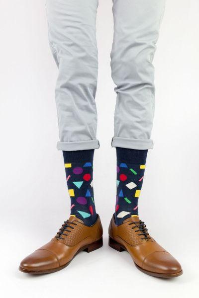Ανδρικές - Εφηβικές Fashion Κάλτσες Crazy Socks SHAPES