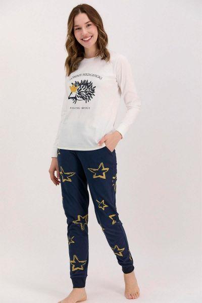 Γυναικεία χειμωνιάτικη πιτζάμα Arnetta HEDGEHOG