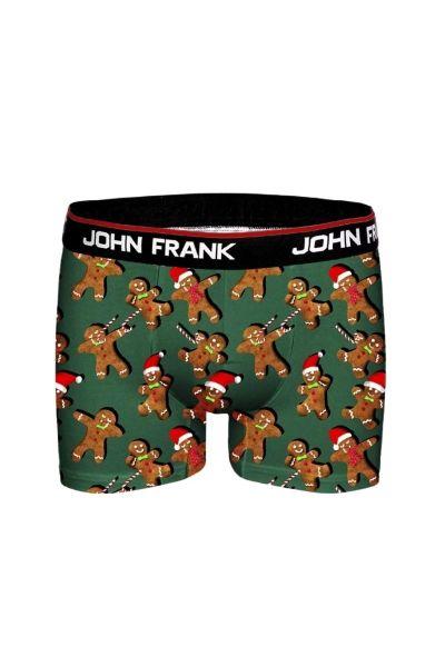 Χριστουγεννιάτικο Εσώρουχο Boxer John Frank GINGER BREAD - Christmas Edition