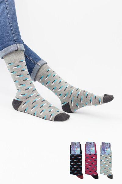 Ανδρικές Casual Κάλτσες Design BALANCE II 3 ζευγάρια