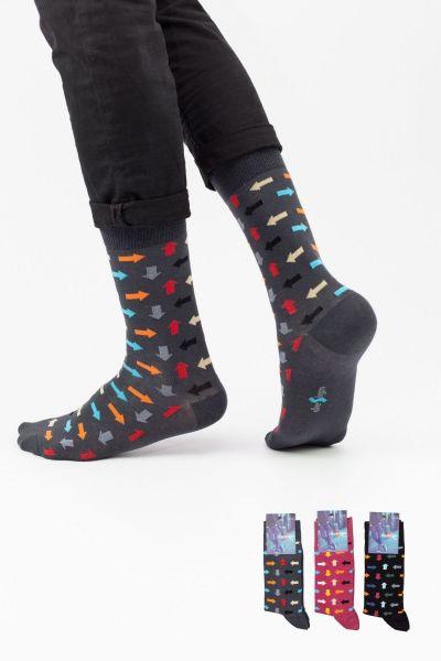 Ανδρικές Casual Κάλτσες Design CONFUSION I 3 ζευγάρια