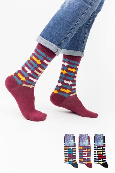 Ανδρικές Casual Κάλτσες Design DIRECTION I 3 ζευγάρια