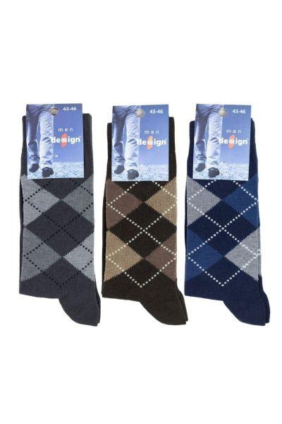 Ανδρικές Casual Κάλτσες Design RHOMBOIDAL Ι