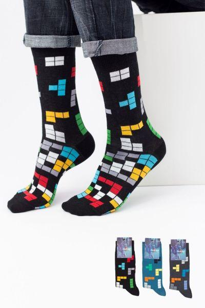 Ανδρικές Casual Κάλτσες Design TETRIS I 3 ζευγάρια