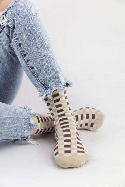 Γυναικείες Casual κάλτσες Pamela CHECKERBOAR II