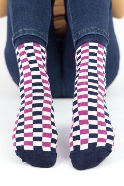Γυναικείες Casual κάλτσες Pamela CHECKERBOAR V