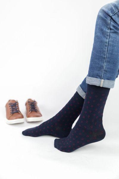 Ανδρικές Casual Κάλτσες Trendy BORDEAUX DOTTY