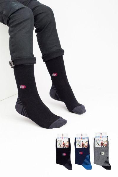 Παιδικές κάλτσες για αγόρι  Design D1 3 ζευγάρια