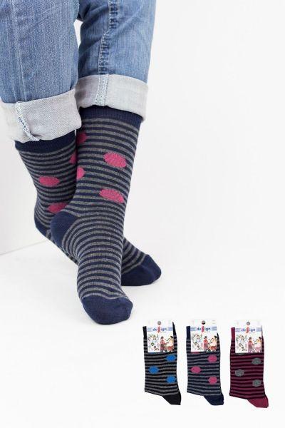 Παιδικές κάλτσες για κορίτσι Design DOTS 3 ζευγάρια