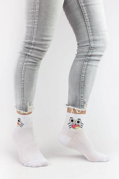 Γυναικείες ημίκοντες κάλτσες Design FACES