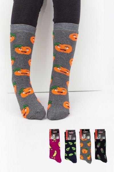Παιδικές κάλτσες για αγόρι Design FRUITS 4 ζευγάρια