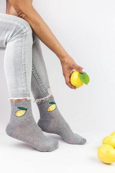 Γυναικείες ημίκοντες κάλτσες Design FRUITS