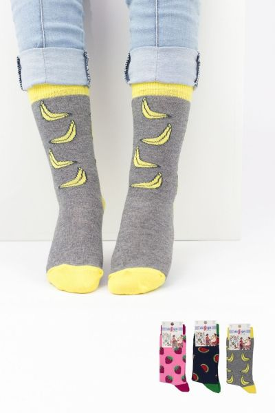 Παιδικές κάλτσες για κορίτσι Design FRUITS I 3 ζευγάρια