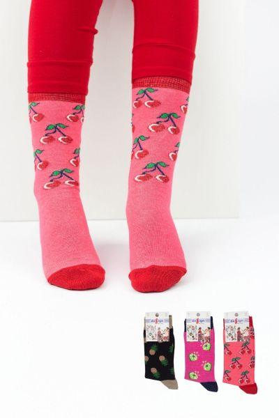 Παιδικές κάλτσες για κορίτσι  Design FRUITS II 3 ζευγάρια
