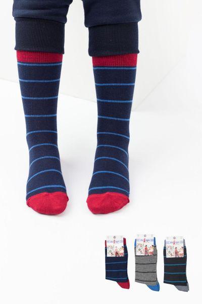 Παιδικές κάλτσες για αγόρι  Design LINES BOY I 3 ζευγάρια