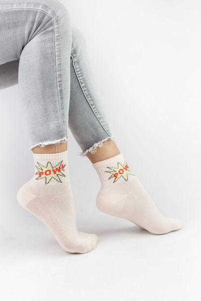 Γυναικείες ημίκοντες κάλτσες Design POW