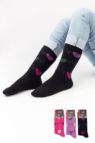 Παιδικές κάλτσες για κορίτσι πετσετέ Design PULSE II 3 ζευγάρια