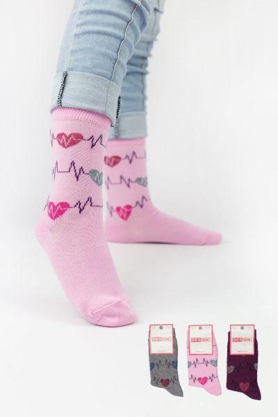 Παιδικές κάλτσες για κορίτσι Design RHYTHM II 3 ζευγάρια