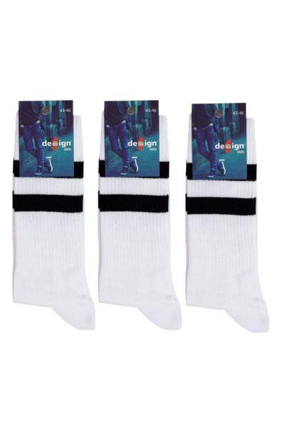 Ανδρικές Αθλητικές Κάλτσες Design WHITE DOVE
