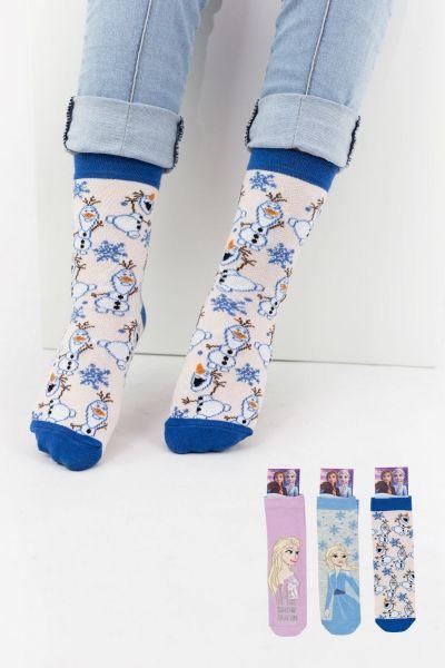 Παιδικές κάλτσες για κορίτσι Disney FROZEN 3 ζευγάρια