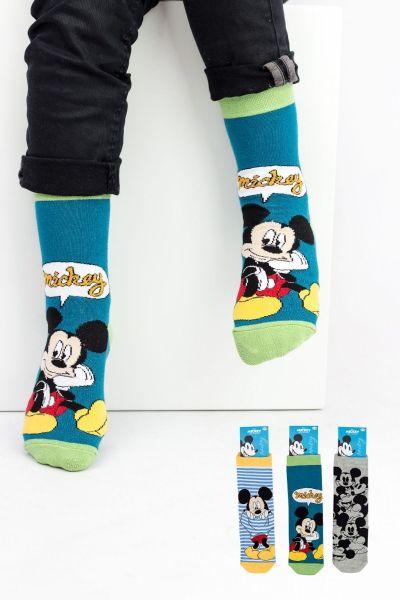 Παιδικές κάλτσες για αγόρι Disney MICKEY 3 ζευγάρια