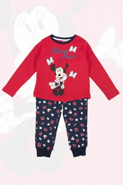 Παιδική  χειμωνιάτικη Πιτζάμα Disney MINNIE κόκκινη