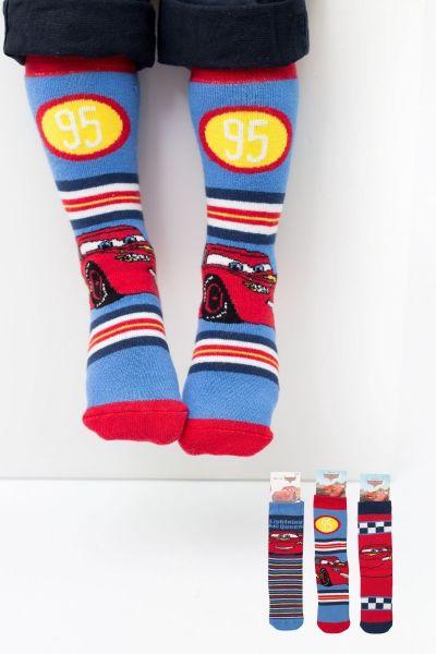 Παιδικές αντιολισθητικές κάλτσες για αγόρι  Disney PCARS 3 ζευγάρια