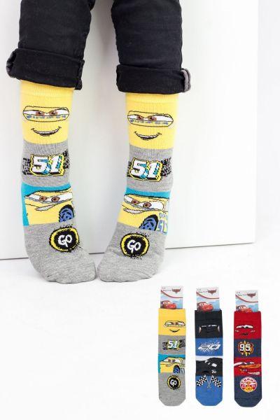Παιδικές κάλτσες για αγόρι Disney PIXAR CARS 3 ζευγάρια