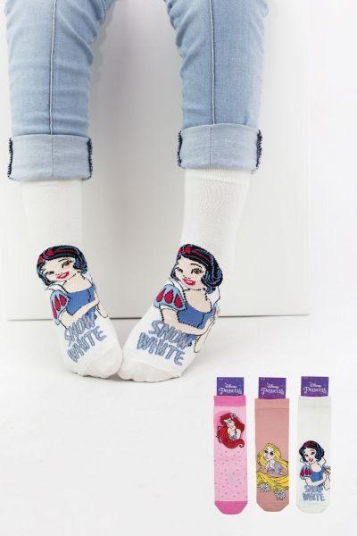 Παιδικές κάλτσες για κορίτσι Disney PRINCESS 3 ζευγάρια