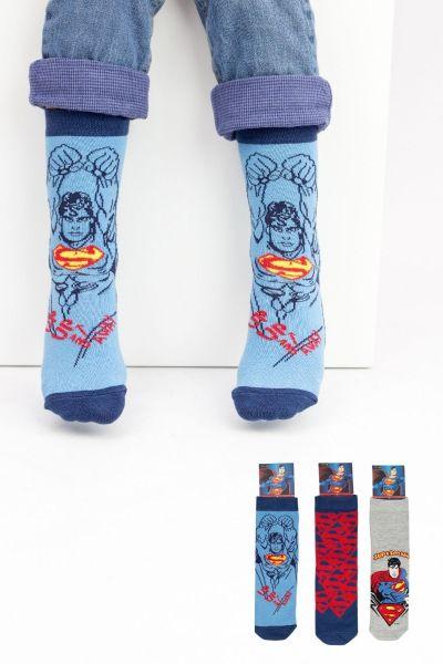 Παιδικές κάλτσες για αγόρι Disney SUPERMAN 3 ζευγάρια