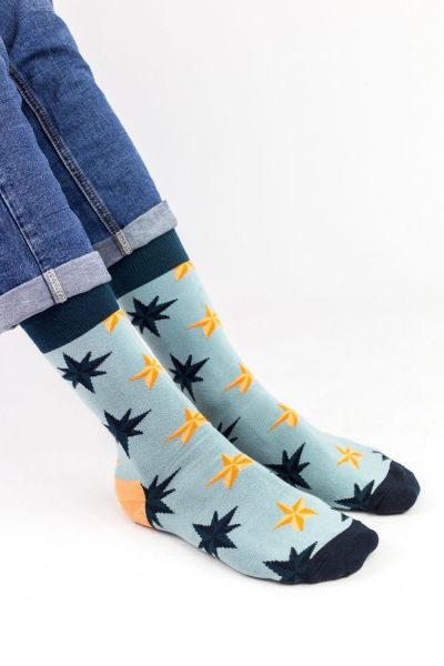 Ανδρικές Fashion Κάλτσες Crazy Socks COMPASS STAR I