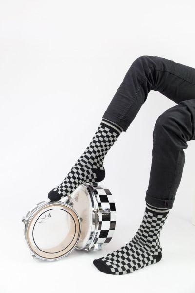 Ανδρικές Εφηβικές Fashion Κάλτσες Crazy Socks GAMBIT GREY
