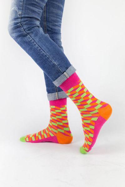 Ανδρικές Εφηβικές Fashion Κάλτσες Crazy Socks LABYRINTH III