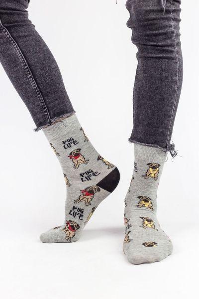 Ανδρικές Fashion Κάλτσες Crazy Socks PUG LIFE