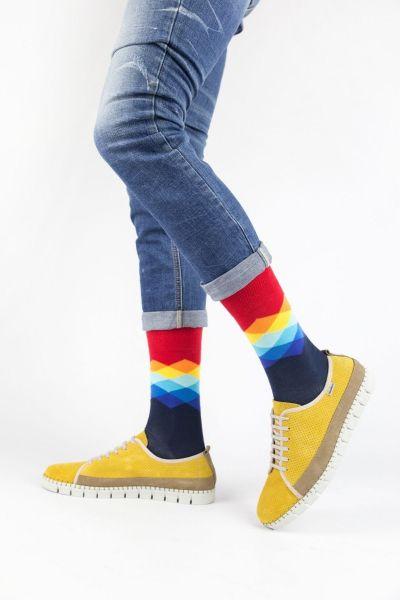 Ανδρικές Εφηβικές Fashion Κάλτσες Crazy Socks RHOMBUS III