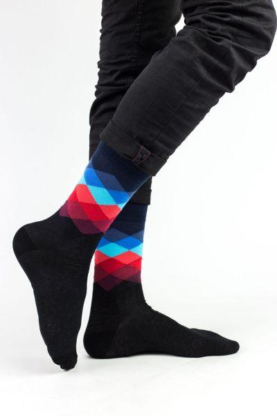 Ανδρικές Fashion Κάλτσες Crazy Socks RHOMBUS IV