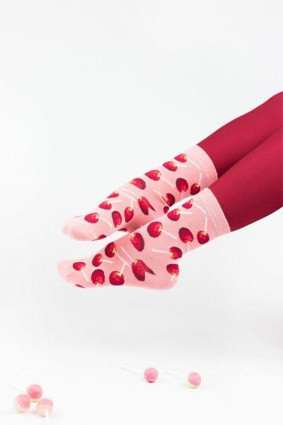 Γυναικείες fashion κάλτσες John Frank CHERRIES